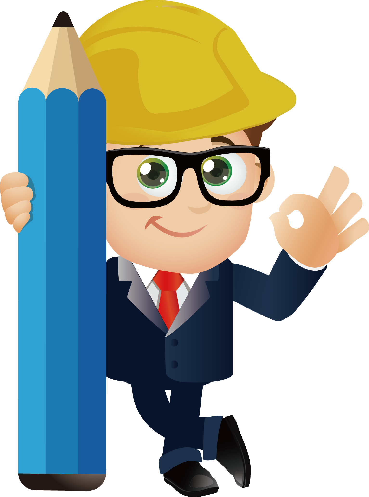 Cartoon engineering transprent png. Professional clipart professional engineer