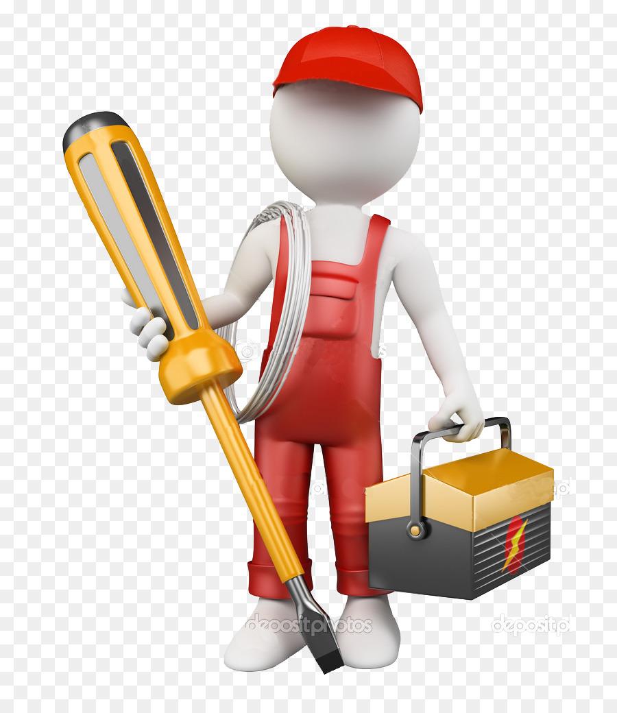 Engineering clipart maintenance engineer. Cartoon electrician