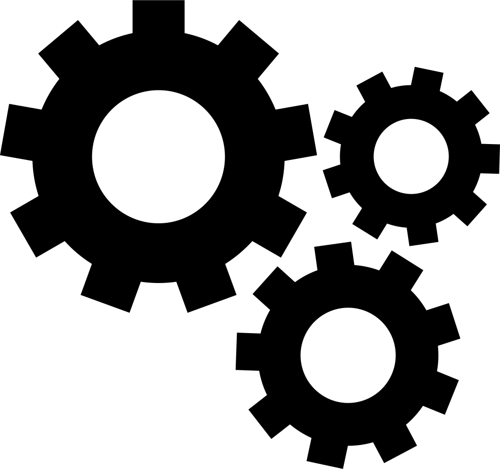 Gear computer icons engineering. Gears clipart mechanical part