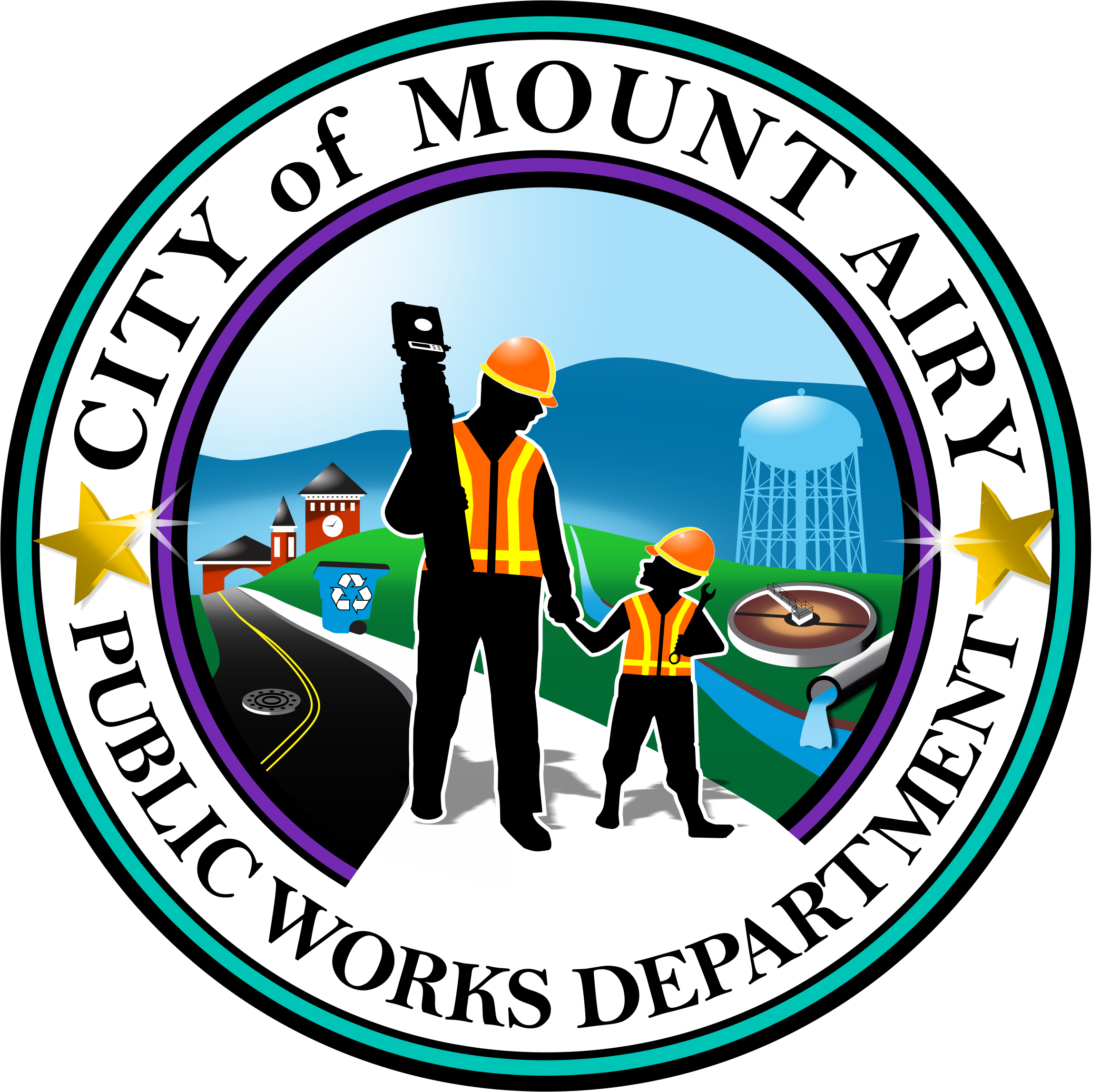 Public works mount airy. Engineer clipart municipal engineer