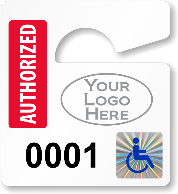 Holographic permits counterfeit proof. Parking lot clipart parking permit