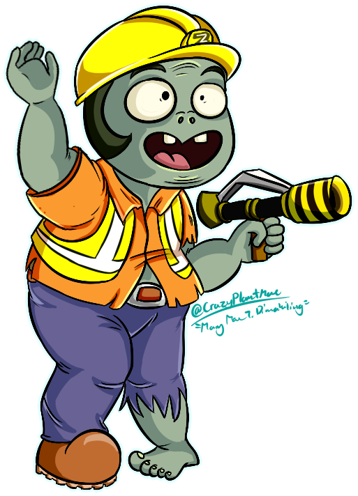 Zombie clipart finger. Engineer commission by crazyplantmae