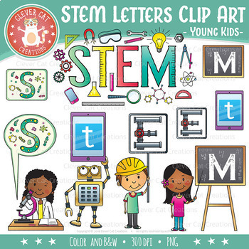 Engineer clipart stem science. Clip art letters tech