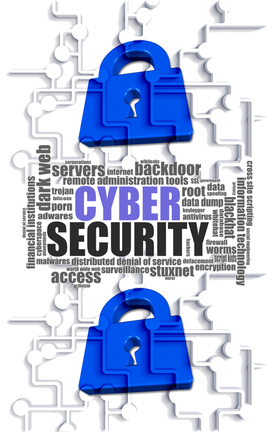 Software and information systems. Lock clipart data security