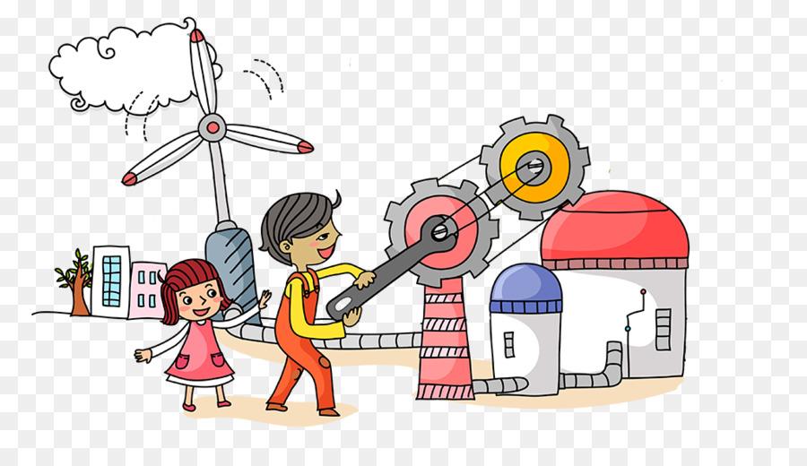 Cartoon engineer technology . Engineering clipart communication engineering