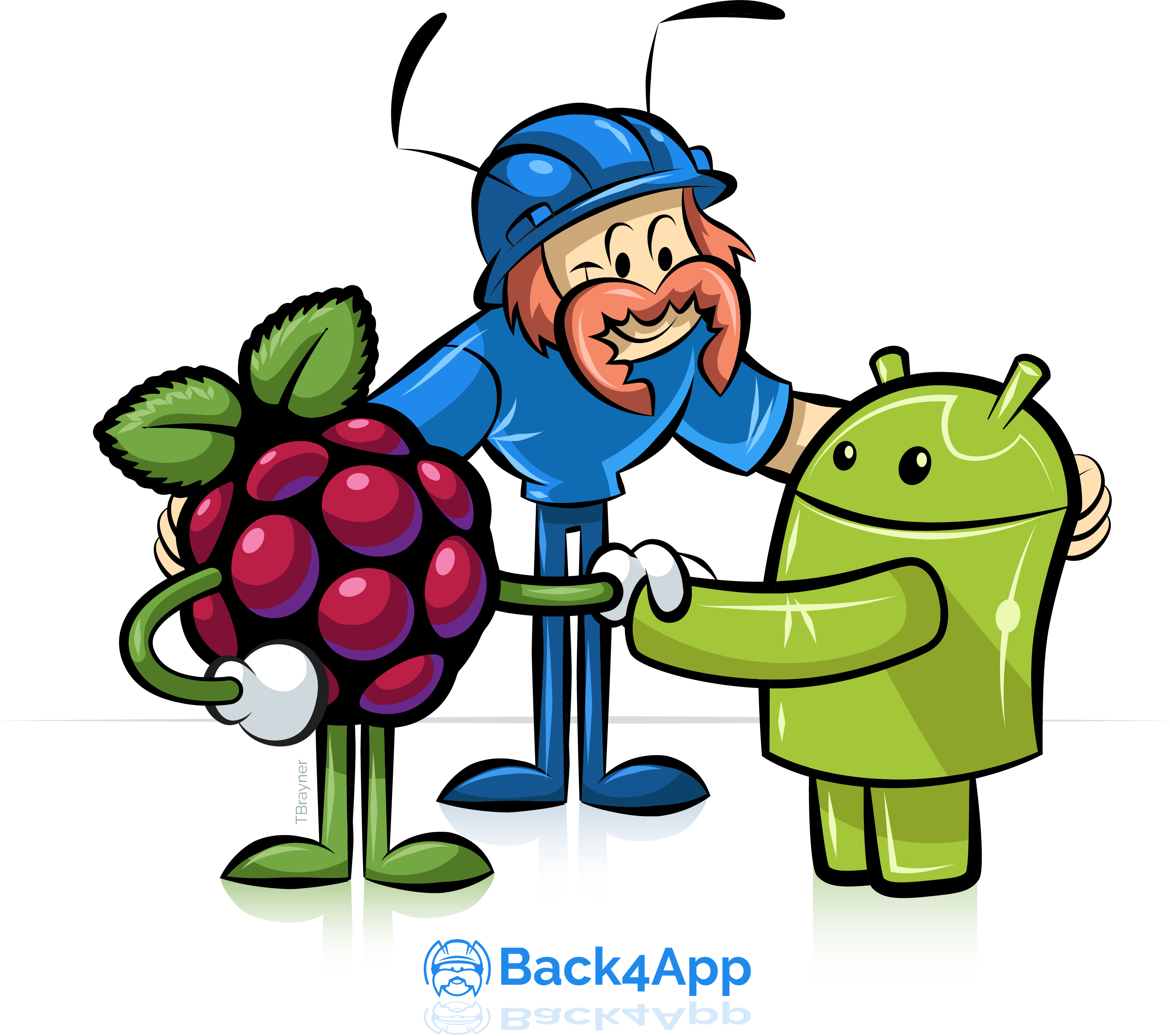 Node js and raspberry. Engineer clipart typing letter