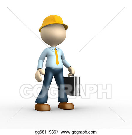Engineer clipart work clipart. Stock illustration drawing gg