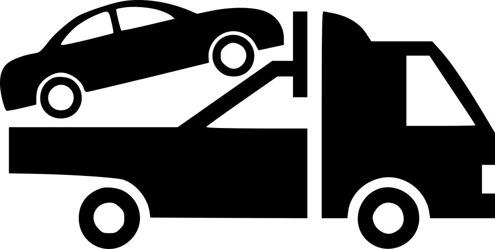 Automobile evacuator tow truck. Mechanic clipart automated