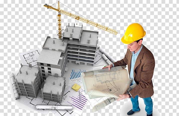 Engineering clipart civil engineering building. Man holding blueprint wearing
