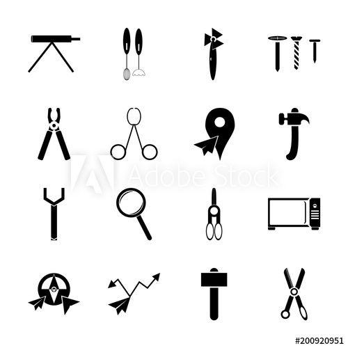 Icon instruments and tools. Engineering clipart engineering tool