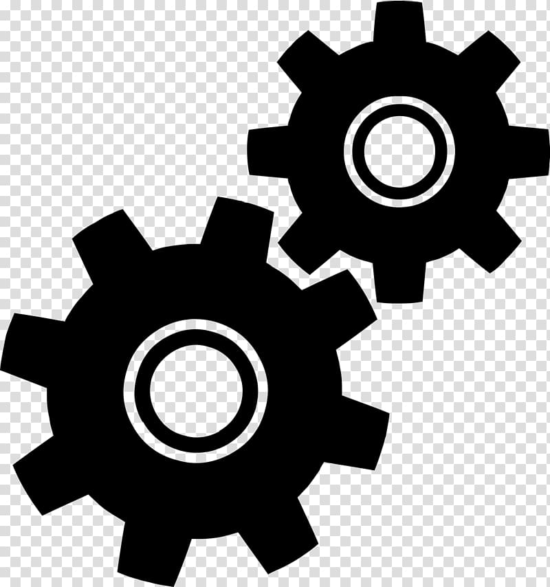 Gears clipart engineering symbol. Gear engineer transparent background