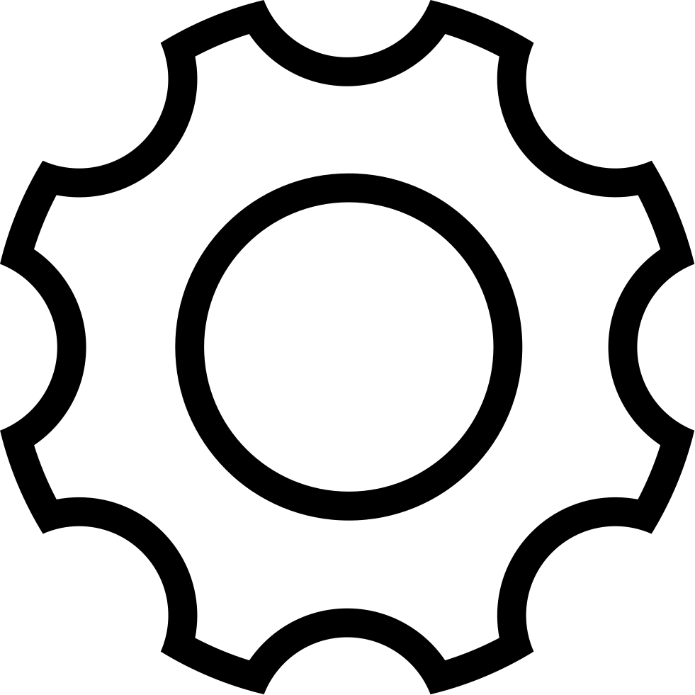 Gear clipart construction gear. Ios outline svg png