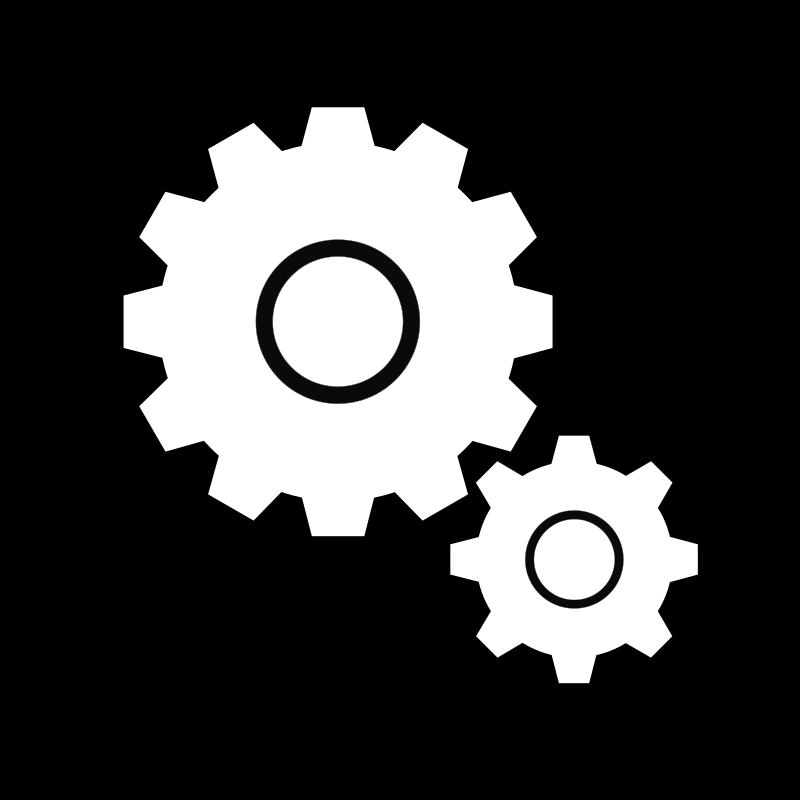 Simple gears medium image. Engineering clipart geers