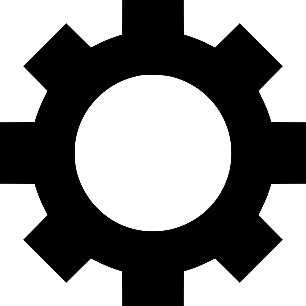 Settings cog preferences wheel. Gear clipart cogwheel