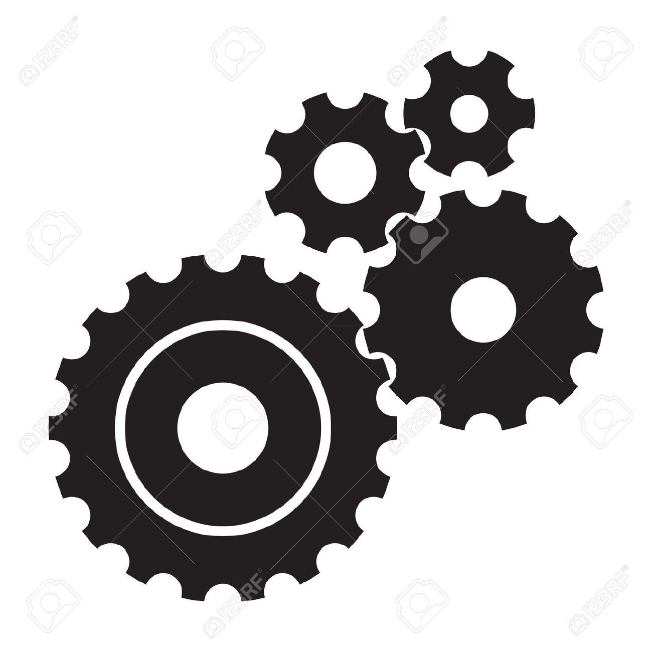 Image result for bw. Steampunk clipart mechanical gear