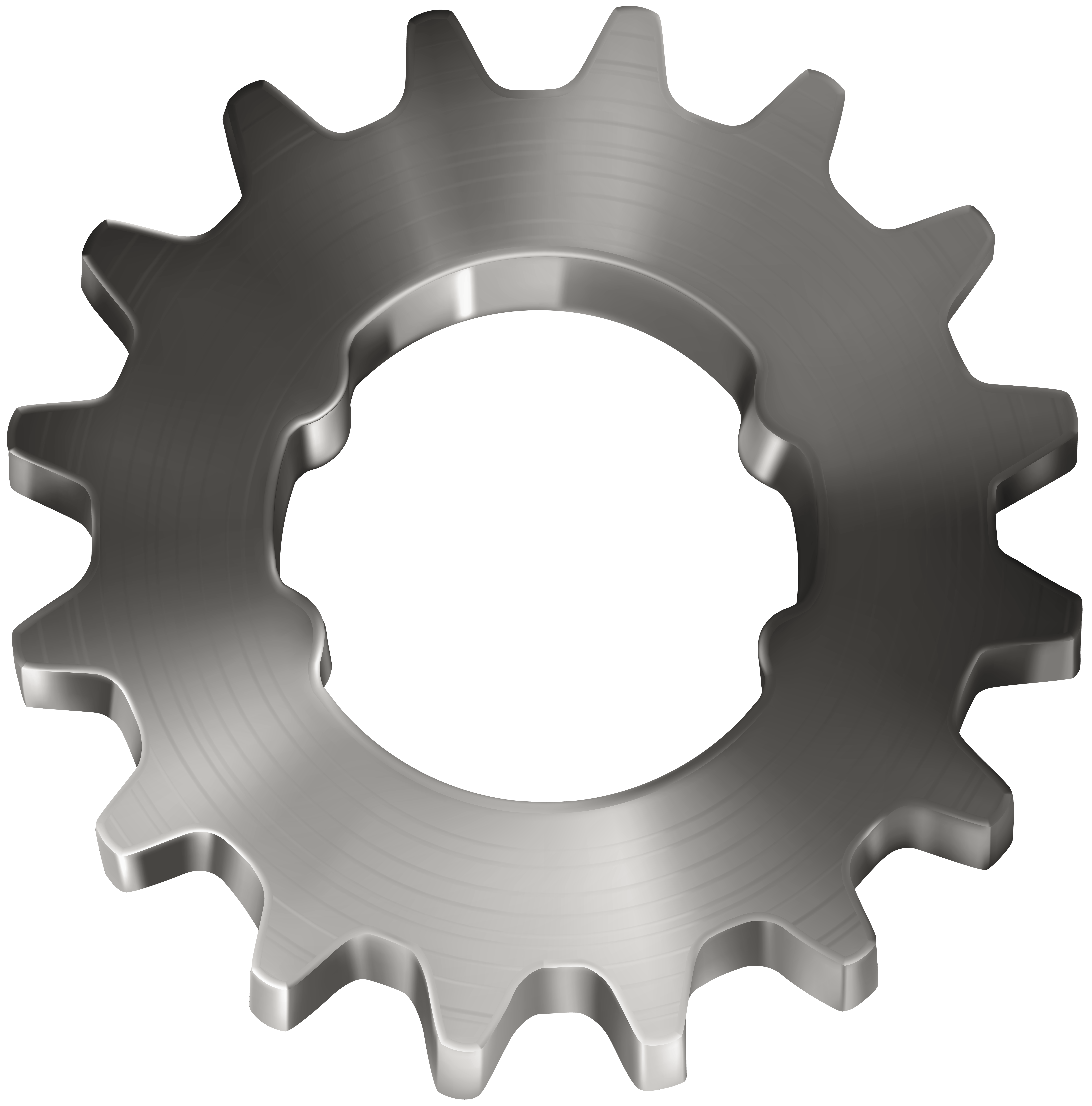 Gears clipart mechanical part. Gear icon machine illustration
