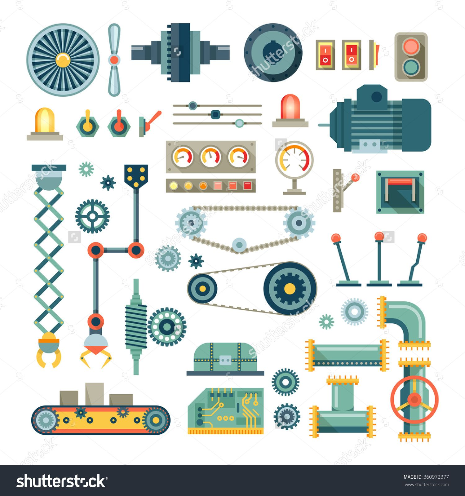 Parts of machinery and. Engineering clipart machine part