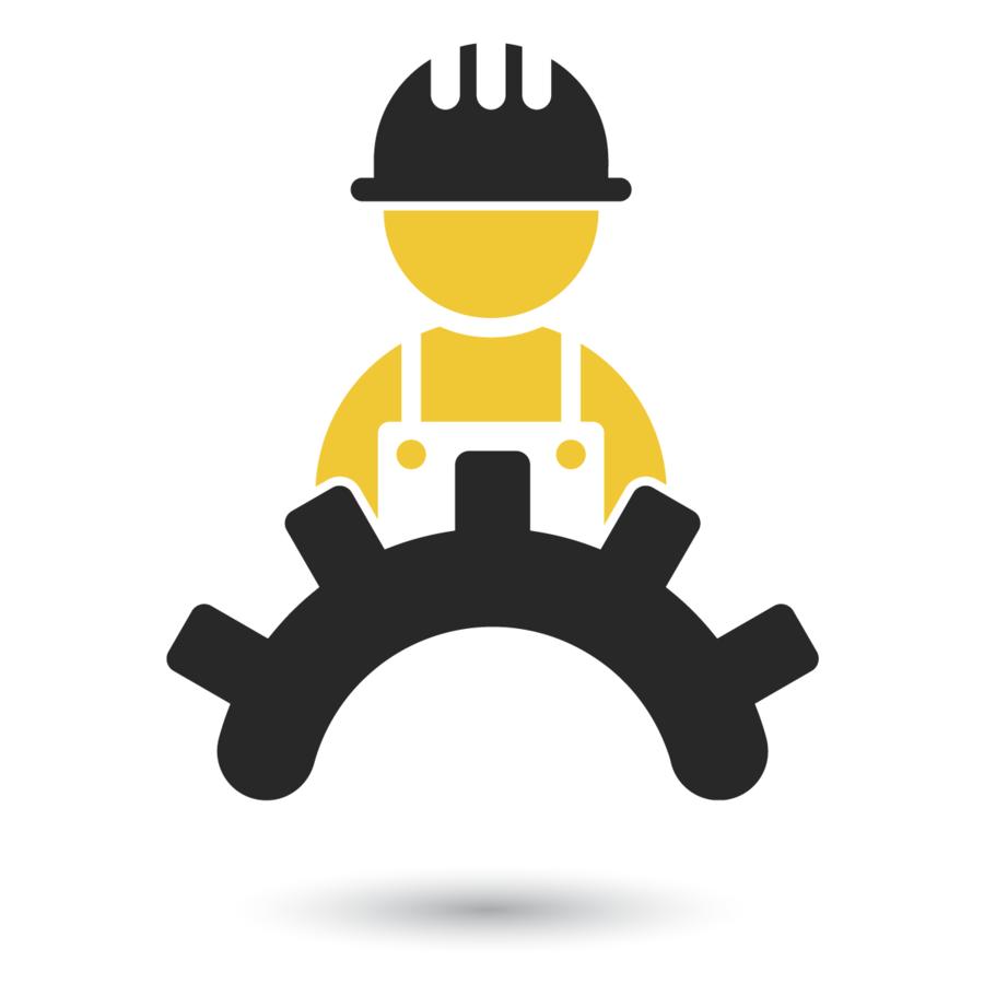 Engineering clipart mechanical engineering. Logo yellow