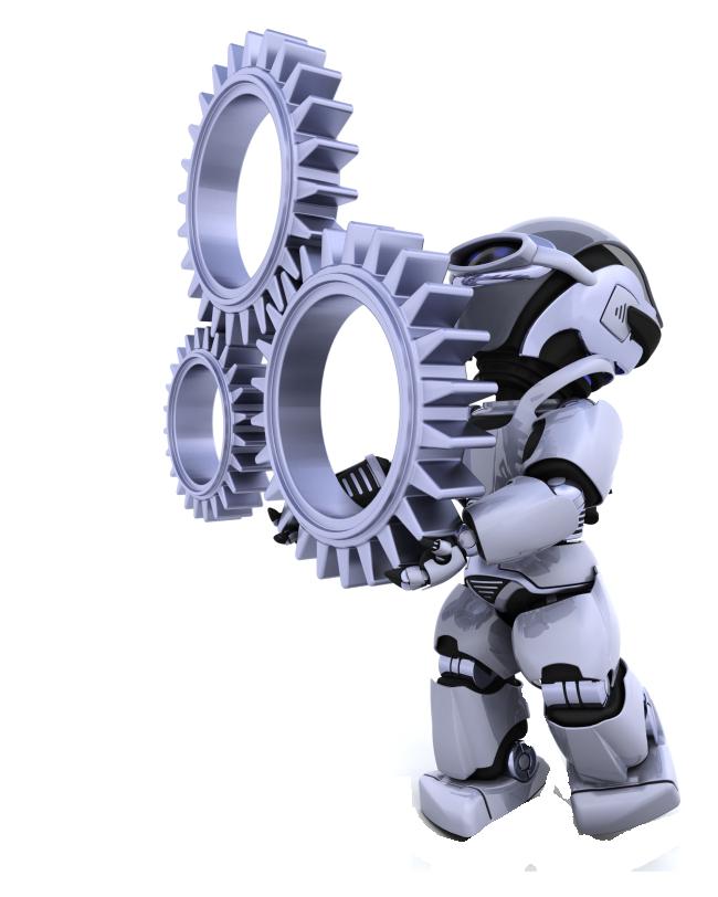 Robot mechanical mechanism creative. Gear clipart industrial engineering