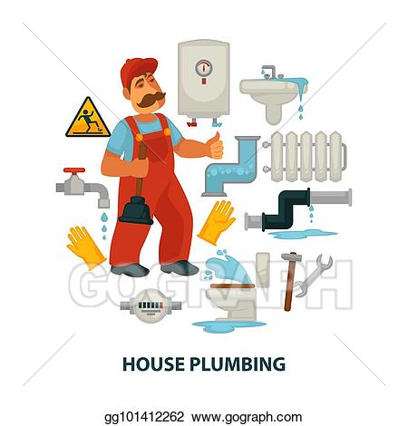 Vector stock house plumbing. Engineering clipart plumber tool