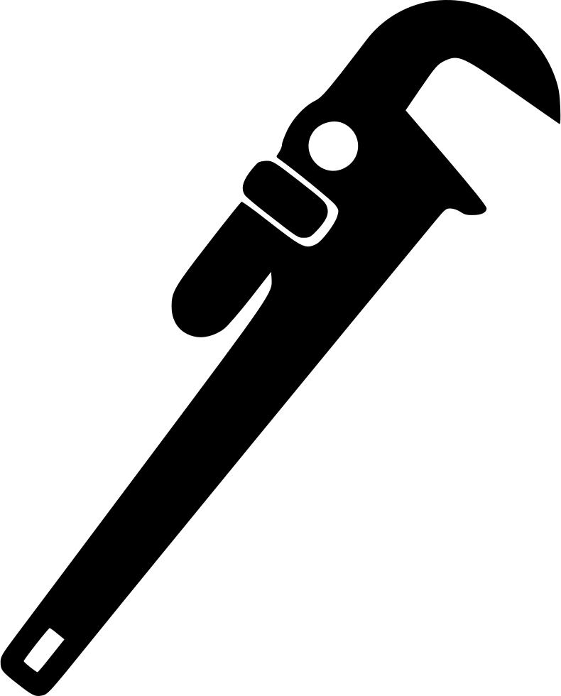 Engineering clipart plumbing tool. Adjustable wrench masonry svg