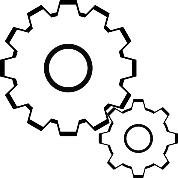 Gear clipart engineering symbol. Simple gears clip art