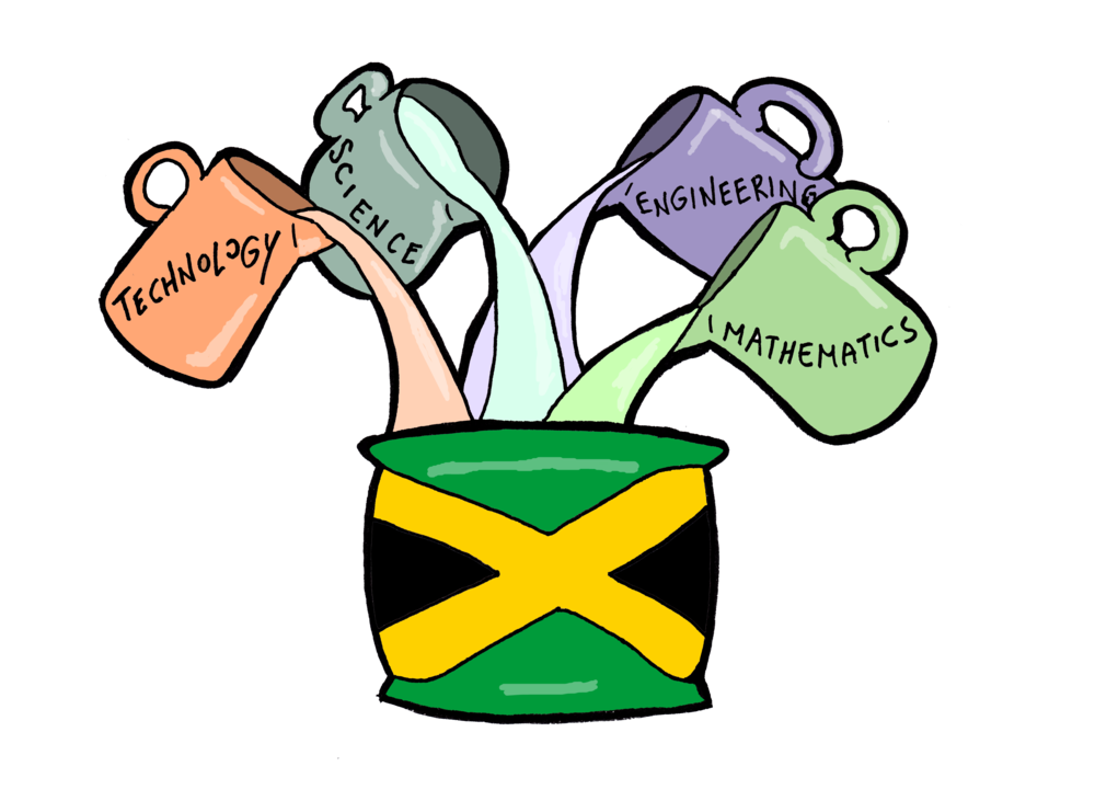 Jamaican youth are adding. Engineering clipart stem lab