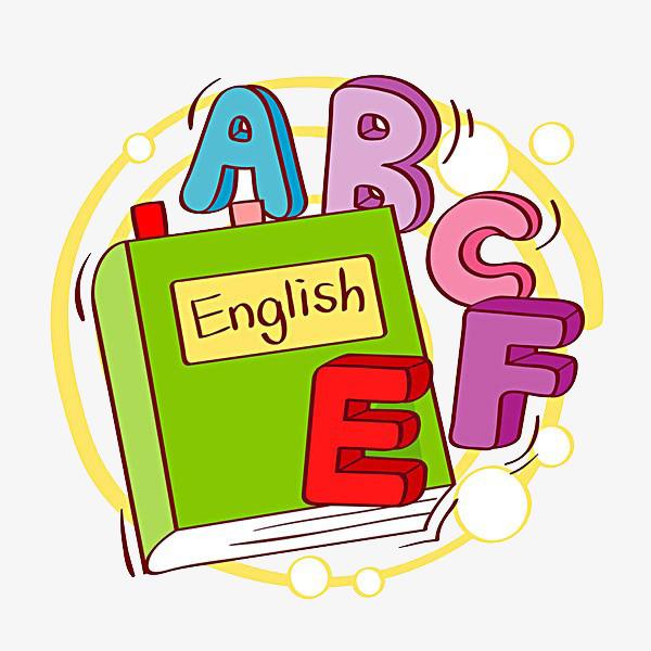 English clipart. Cartoon material creative book
