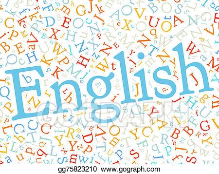 Stock illustrations alphabet word. English clipart