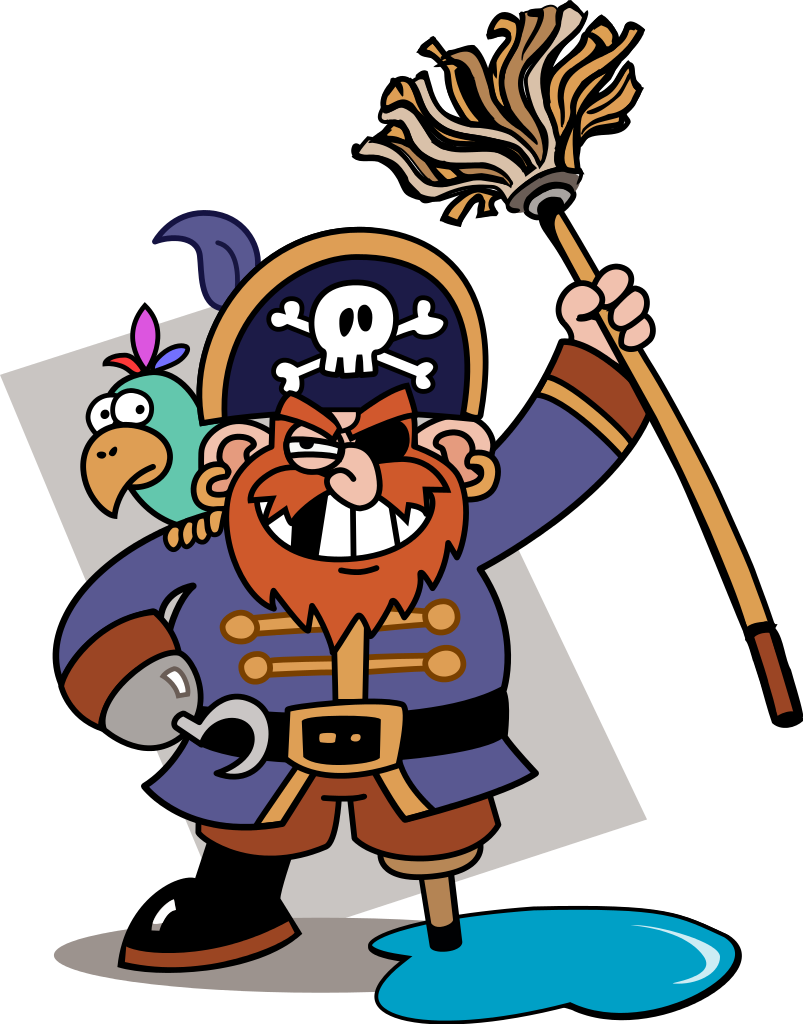 Pirates clipart scope. File piratey with mop