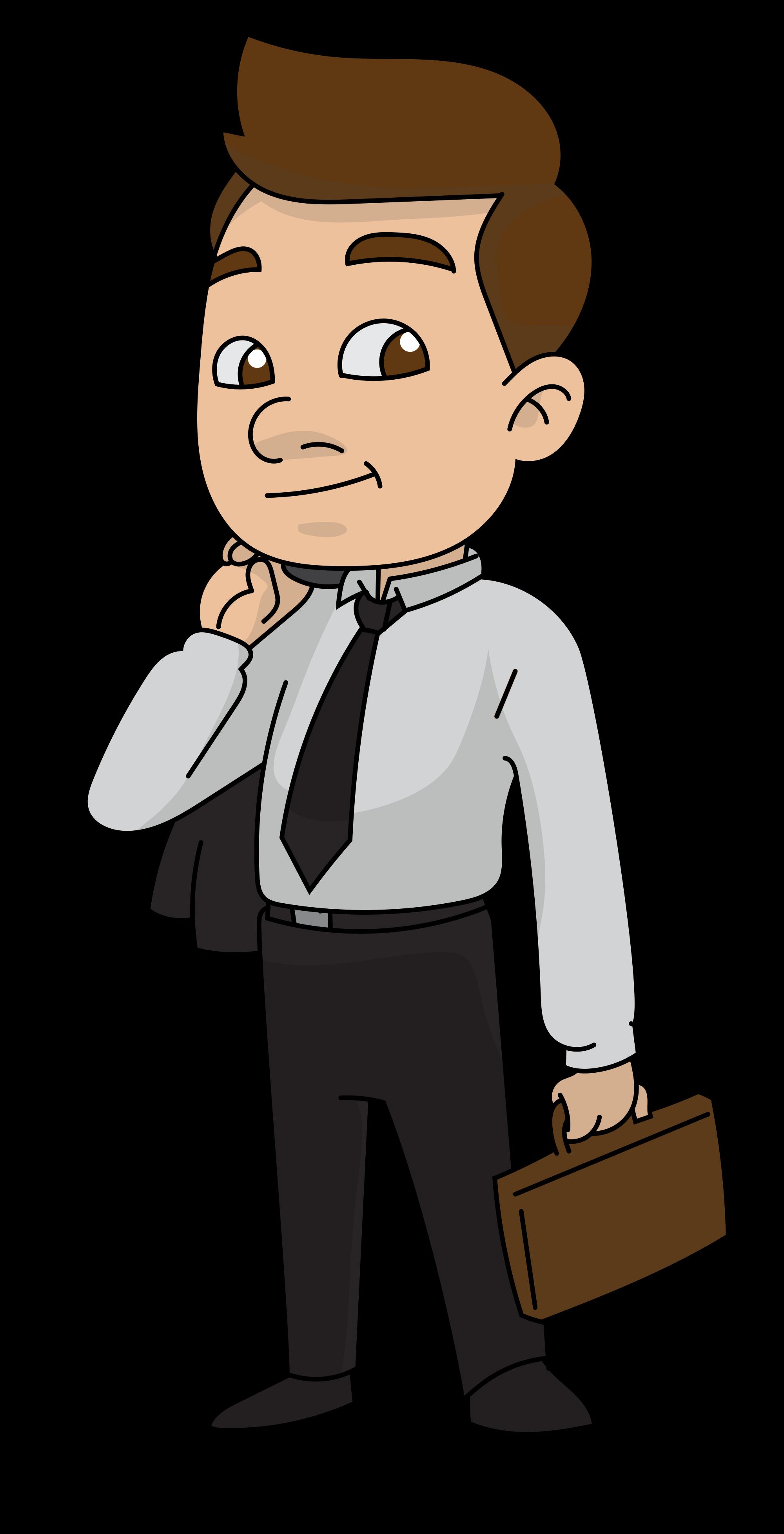 English clipart author at work. File cartoon businessman ready