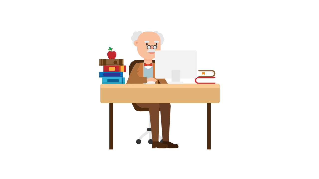English clipart author at work. File professor working his