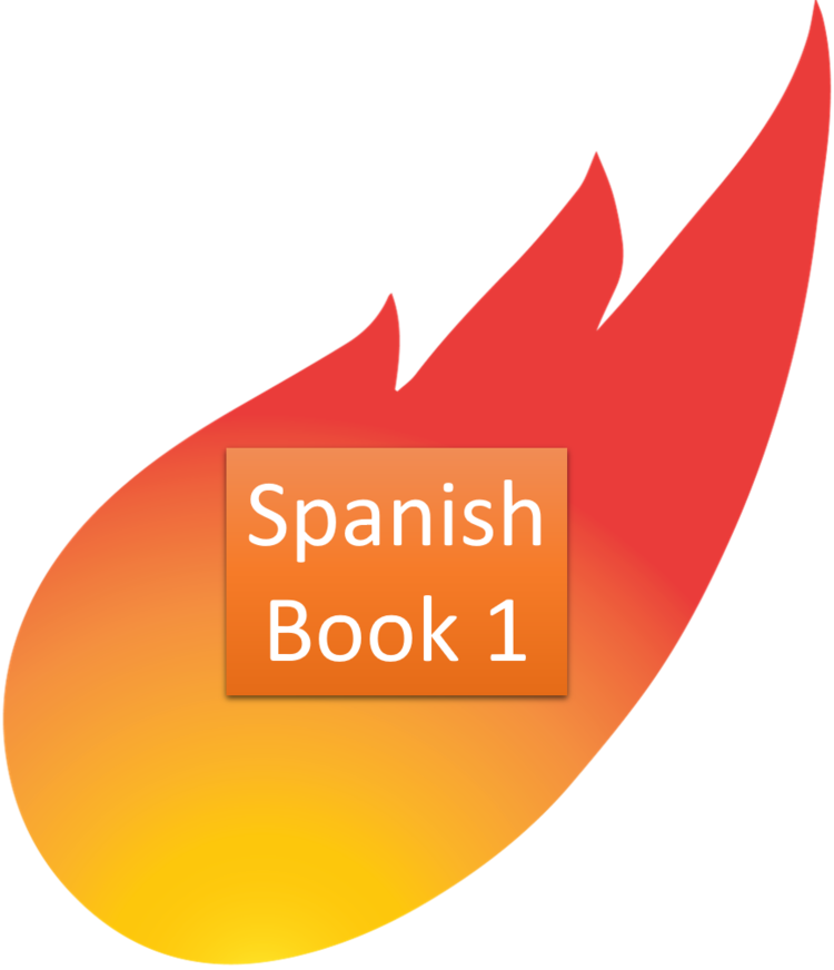 Holy fire books of. English clipart book spanish