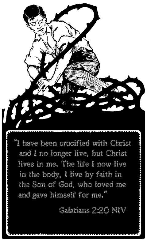 Faith clipart died jesus. Galatians in both english
