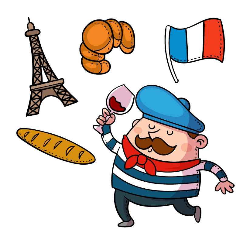 Getting started in for. France clipart cheese french