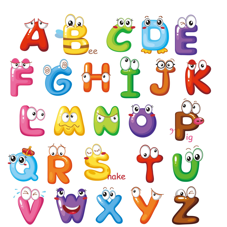 Letter cute letters transprent. English clipart english alphabet