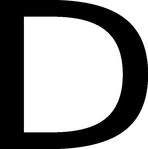 English clipart english alphabet. Letter d clip art