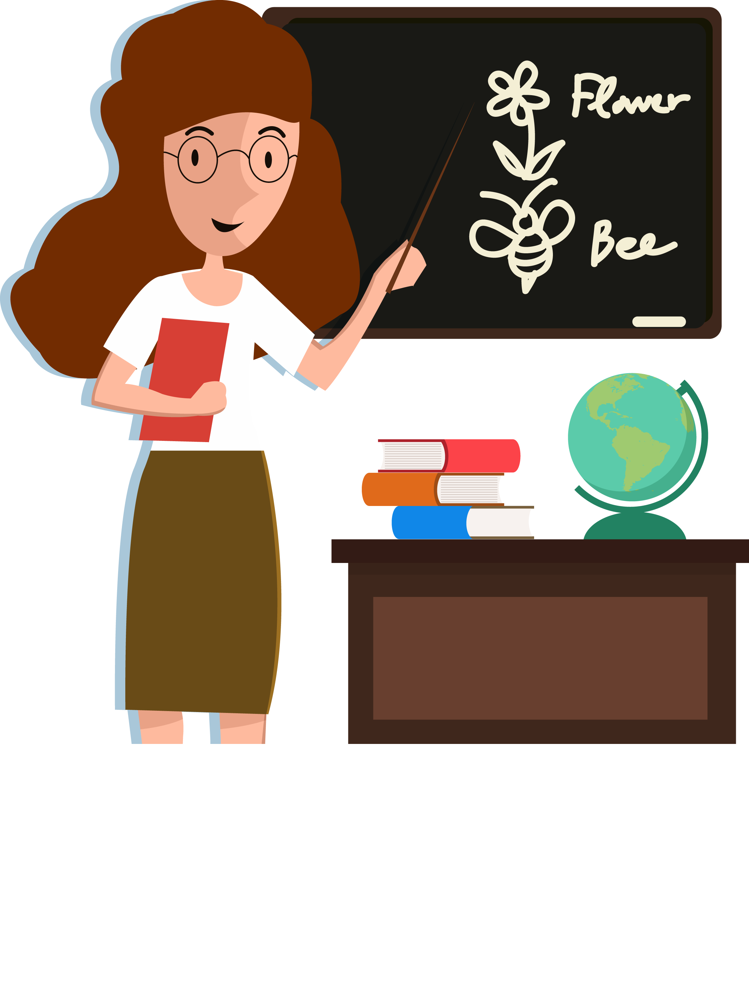 Teacher classroom cartoon english. Professional clipart professional student
