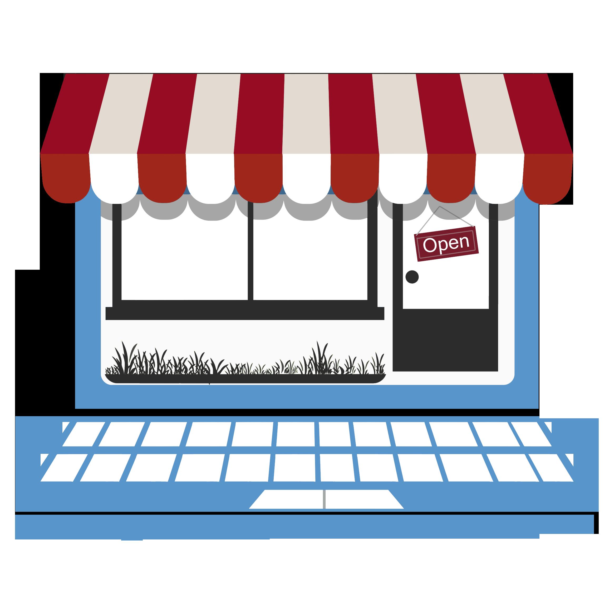 English clipart english portfolio. Online store open interior