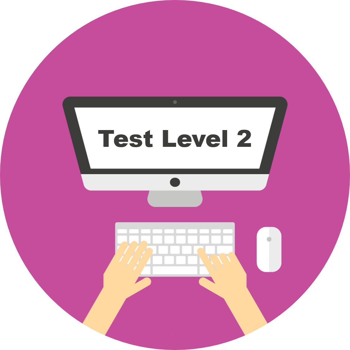 Diagnostic tests level for. English clipart english test