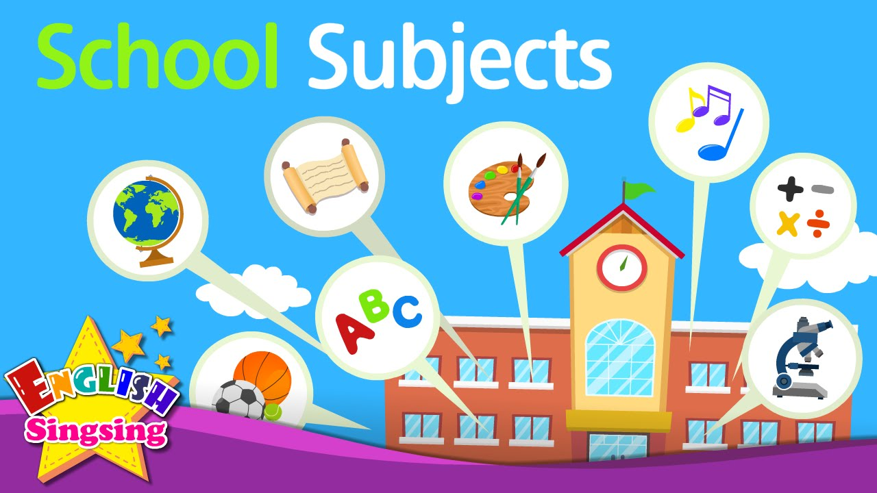 English clipart favorite subject. Kids vocabulary school subjects
