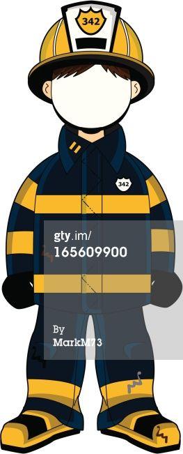 Vector art firefighter face. Fireman clipart english