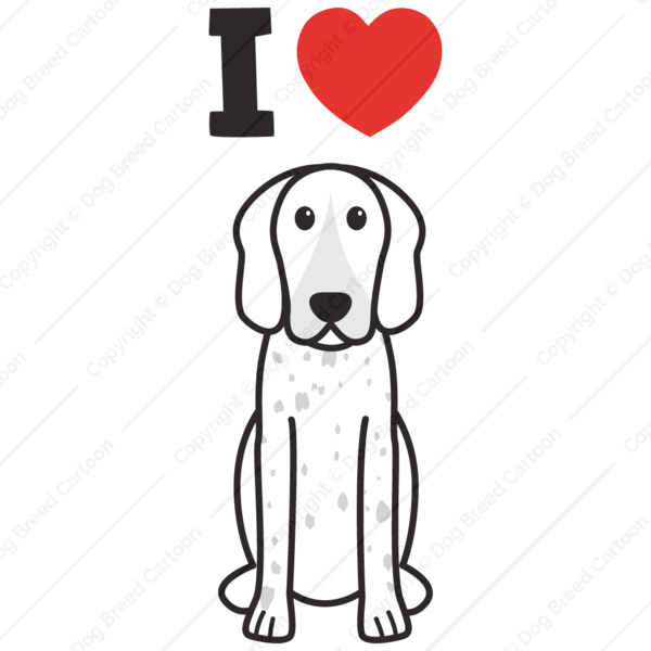 American coonhound i edition. English clipart love english