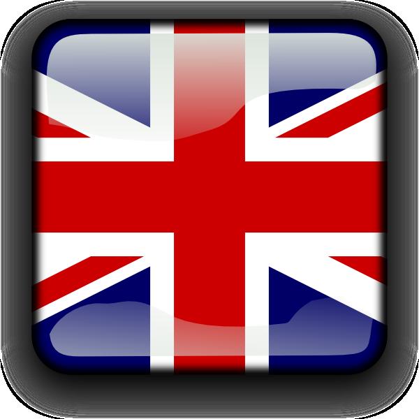 British flag button clip. English clipart love english