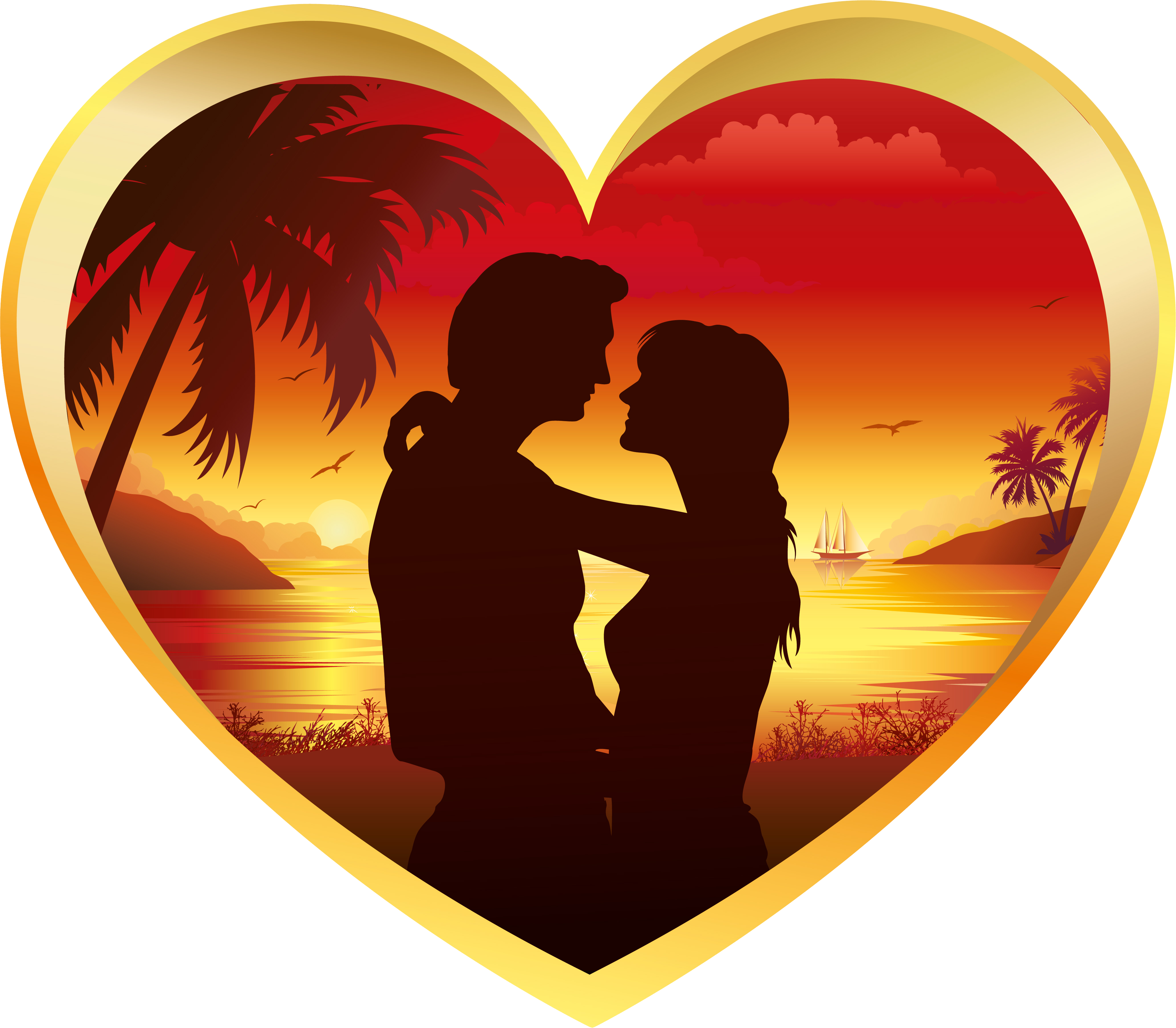 Touching hearts love poems. Poetry clipart declaration