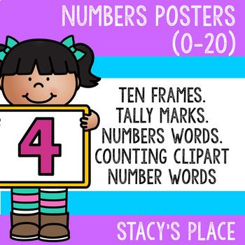 Numbers posters stacy s. English clipart resource