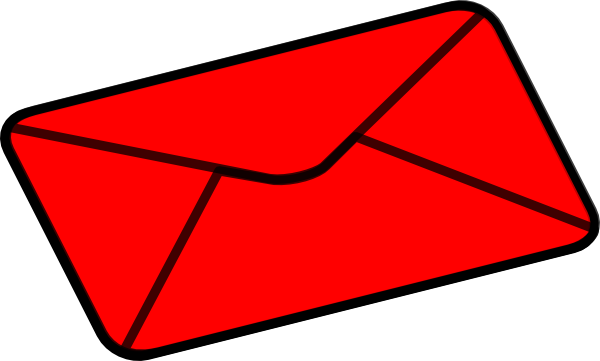 Red clip art at. Envelope clipart