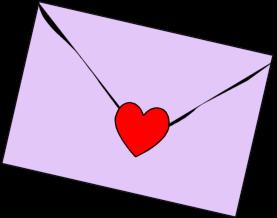 Heart . Envelope clipart