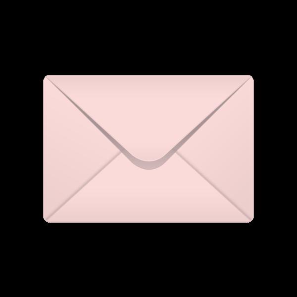 Envelope clipart addressed envelope. C baby pink pastel