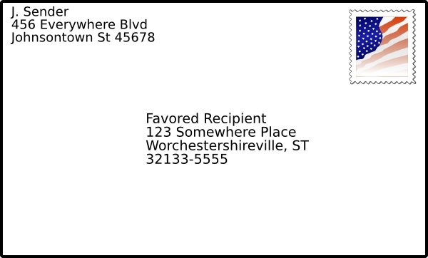 With stamp clip art. Envelope clipart addressed envelope